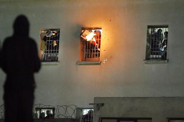 GREECE-PRISON-PROTEST
