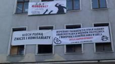Solidarity banners at Poznan Odzysk squat
