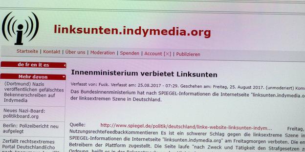 Innenministerium verbietet linksextremistische Internetplattform