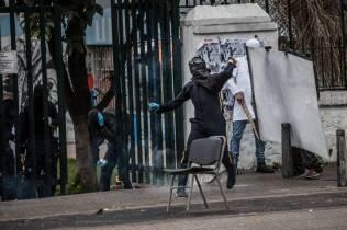 Disturbios Universidad Pedagogica Martes 6 de Marzo del 2018 Foto Sergio Ivan Acero Yate